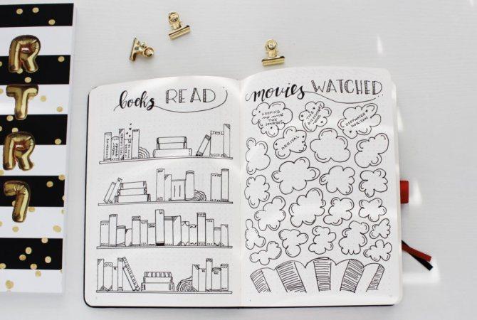 оформление личного дневника для девочек