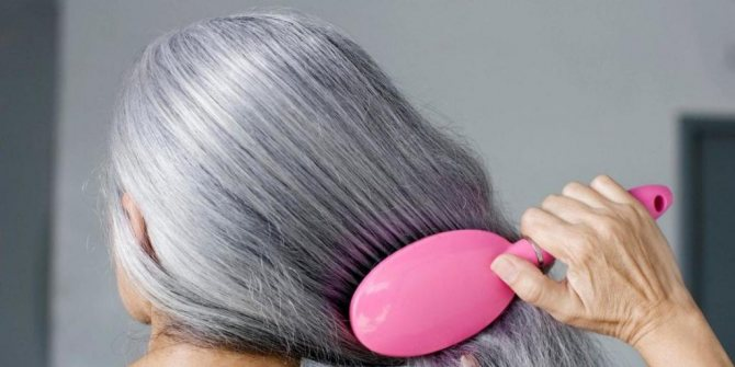 Окрашивание хной седых волос