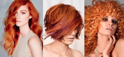 Окрашивание рыжих волос 2015