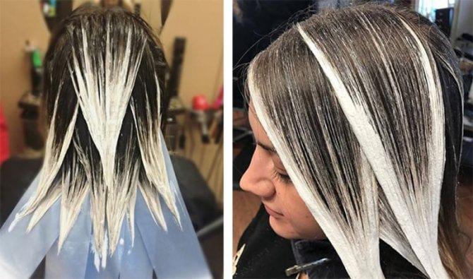 Окрашивание волос балаяж на светлые волосы
