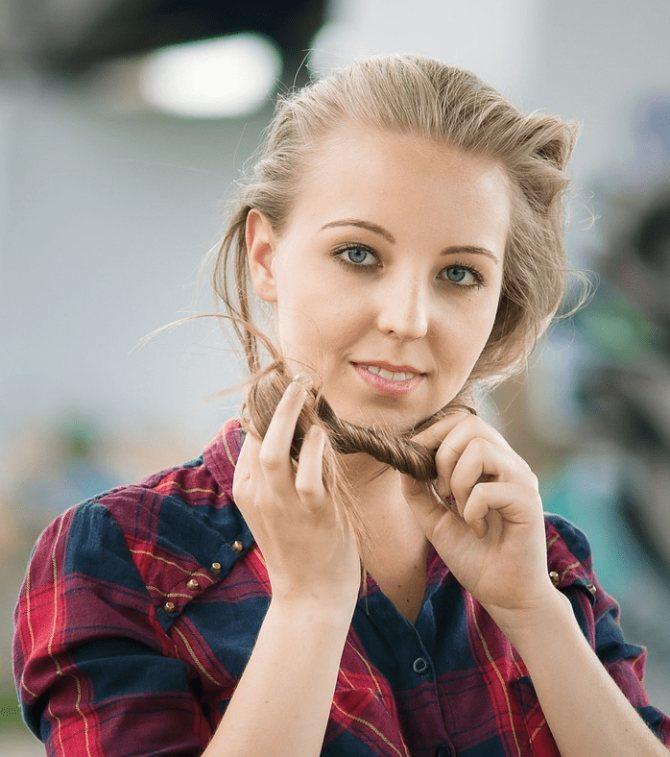 Окрашивание волос ромашкой