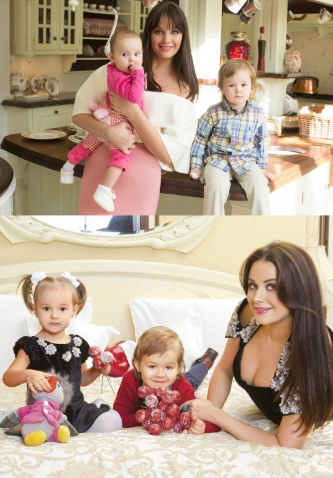 Оксана Федорова и ее дети