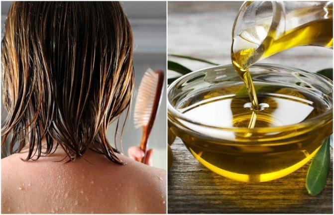 оливковое масло на волосы