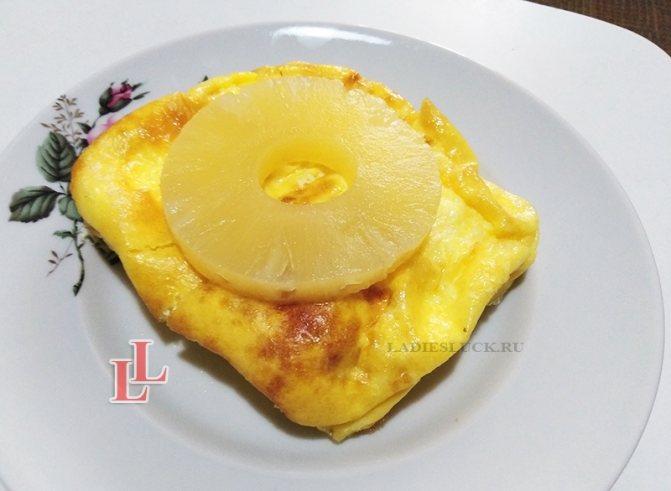 омлет с ананасом фото 3
