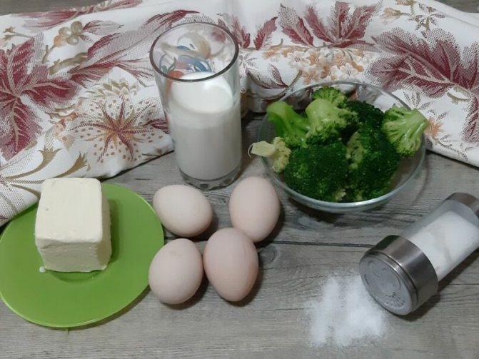 Омлет в духовке с брокколи