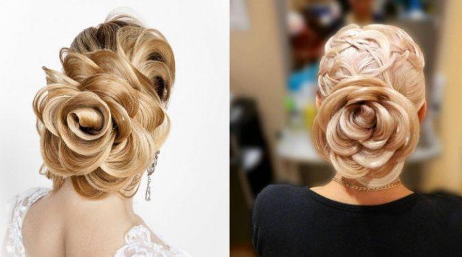 Оригинальные розы из волос