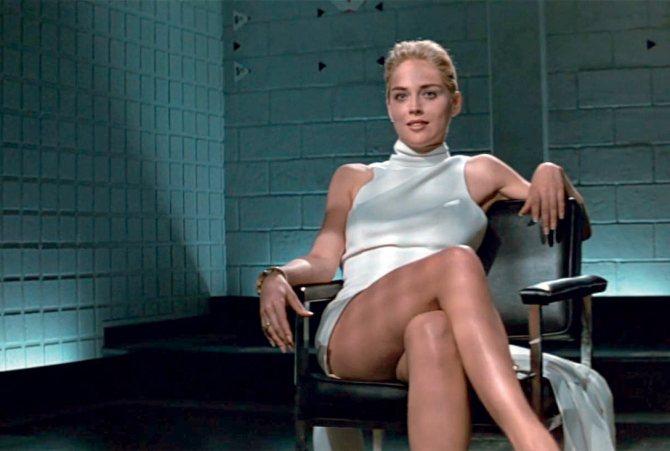 «Основной инстинкт» Шерон Стоун: знаменитая сцена с ногами