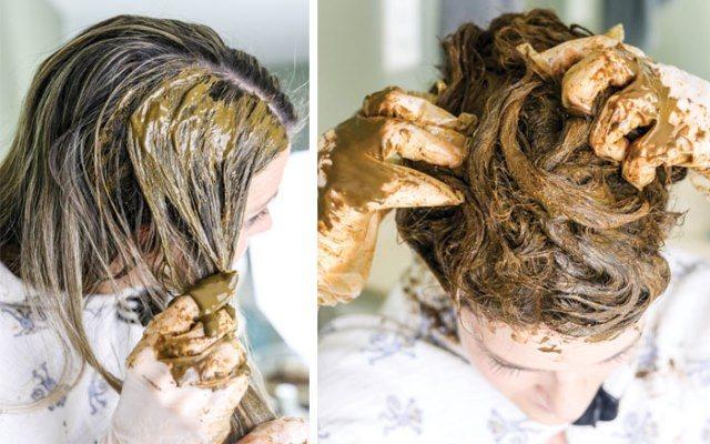 Особенности нанесения хны и басмы на волосы