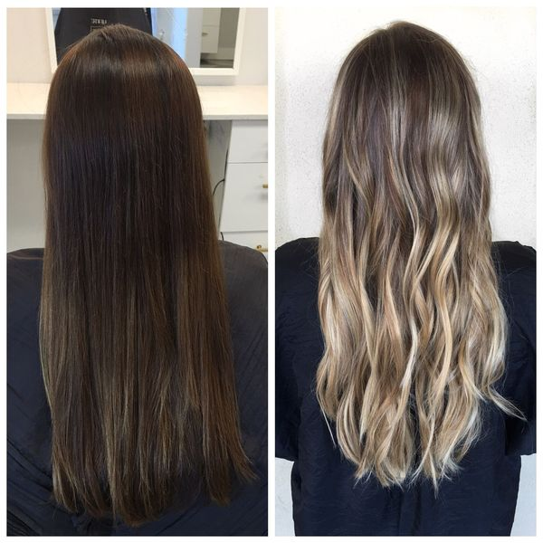 осветление натуральных темных волос