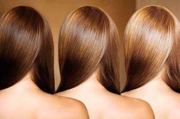 Осветленные корицей волосы