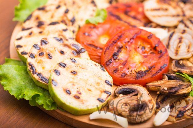 овощи гриль рецепт с фото