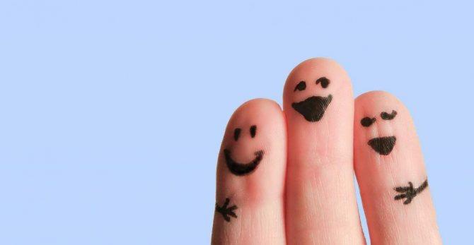 Пальчики дружат друг с другом