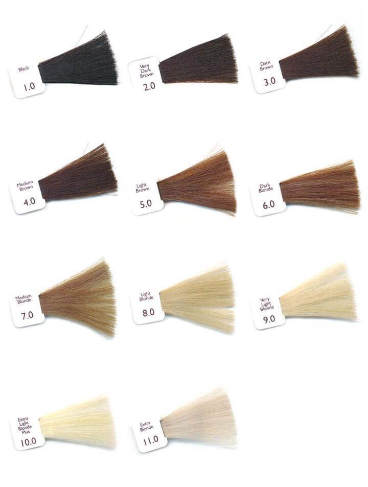 палитра натуральных цветов волос