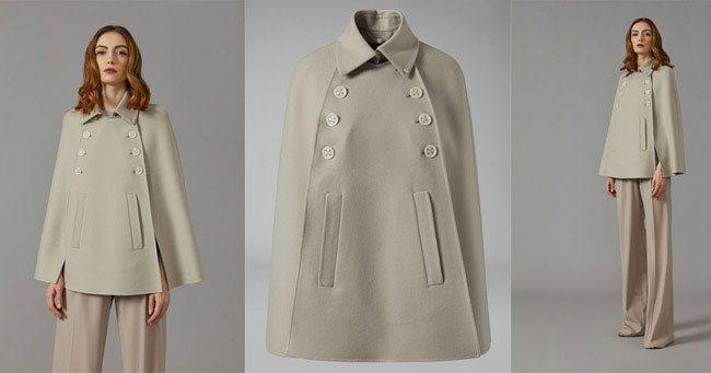 Пальто кейп Giorgio Armani 2018
