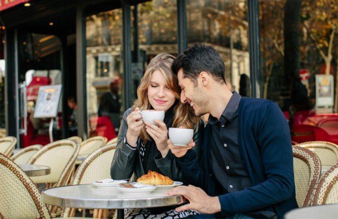 пара влюбленные франция любовь романтика
