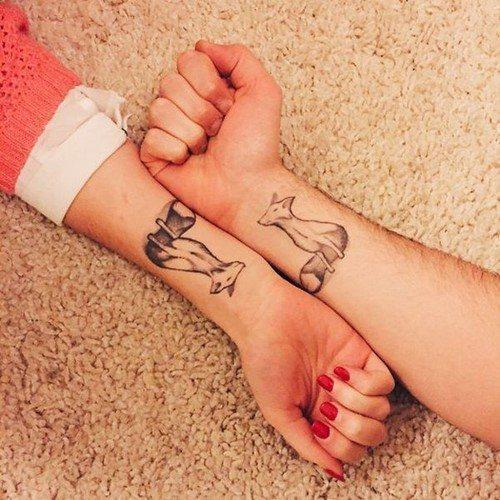 Парные тату: фото идеи парных тату для влюбленных и друзей