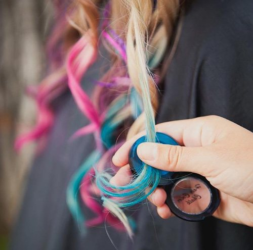 пастель для волос в виде теней