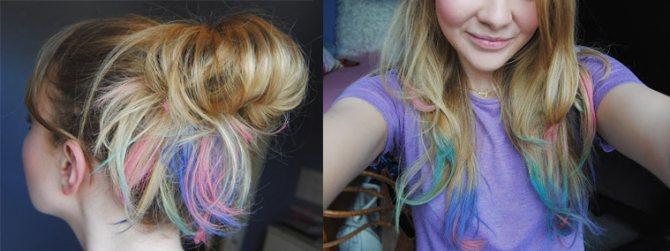 пастель на светлые волосы