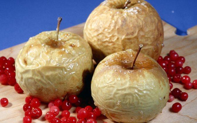 Печеное яблоко польза или вред