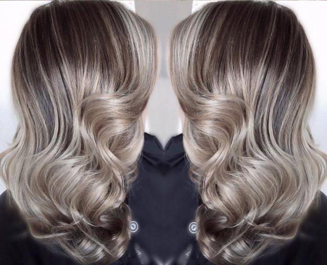 пепельно-жемчужный цвет волос