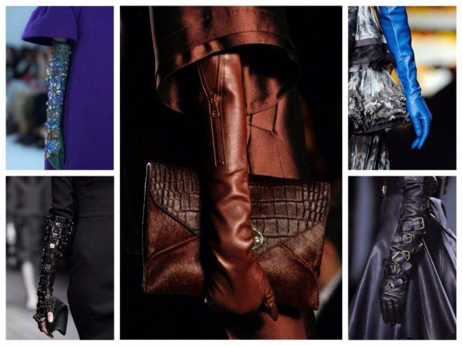 перчатки в модных показах