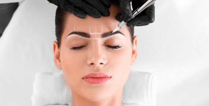перманентный макияж бровей уход