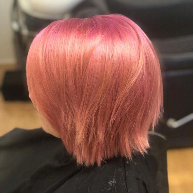 персиковые волосы