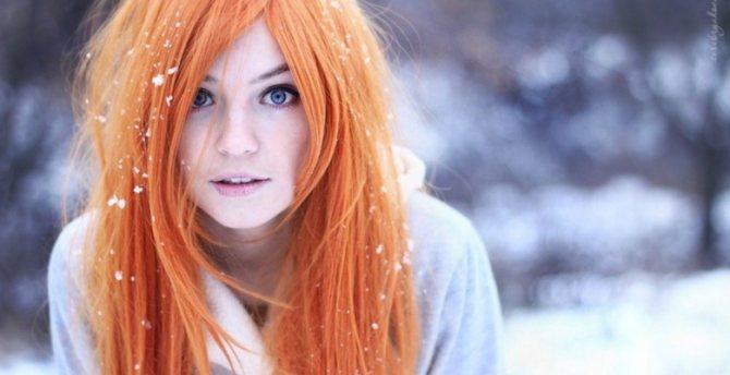 Персиковый цвет волос: фото, варианты оттенков и укладки
