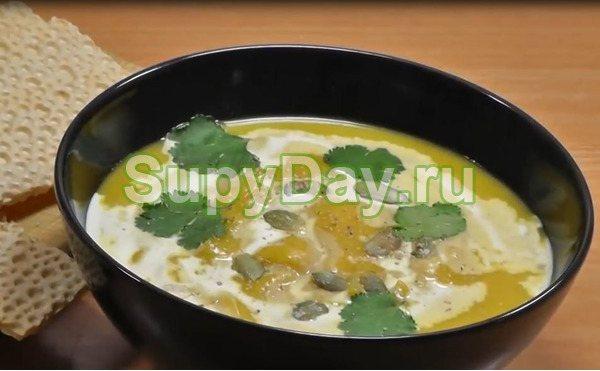 Пикантный крем-суп из тыквы