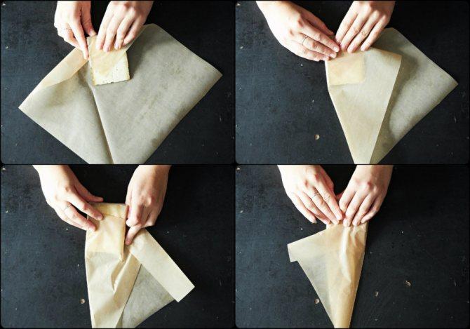 Пища завернутая в пергамент способна сохранятся вдвое дольше и удерживать запах