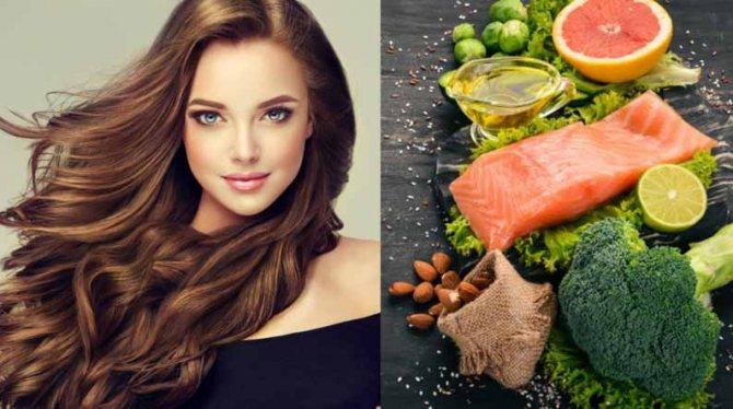 Питание влияет на волосы