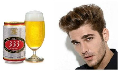 пиво и волосы мужчины