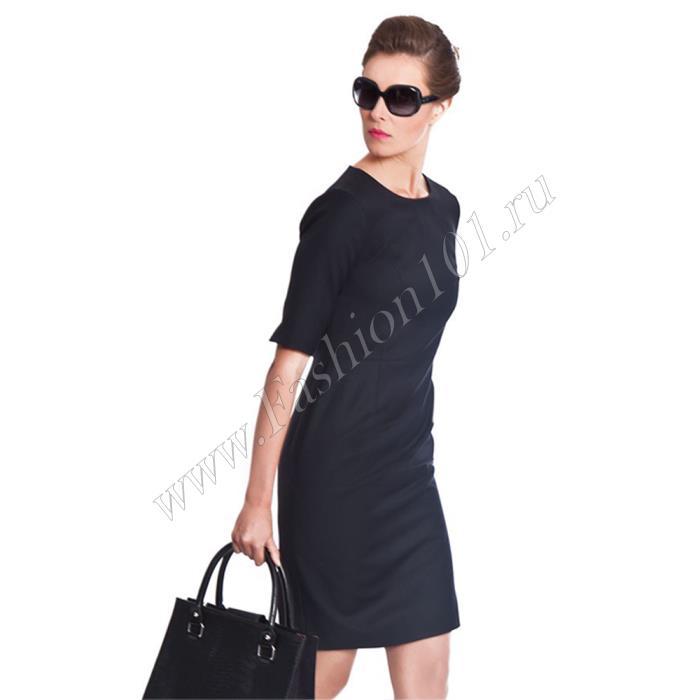 Платье футляр с длиной рукава до локтя