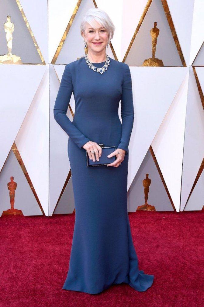 Платье Хелен Миррен на красной дорожке Оскар-2018