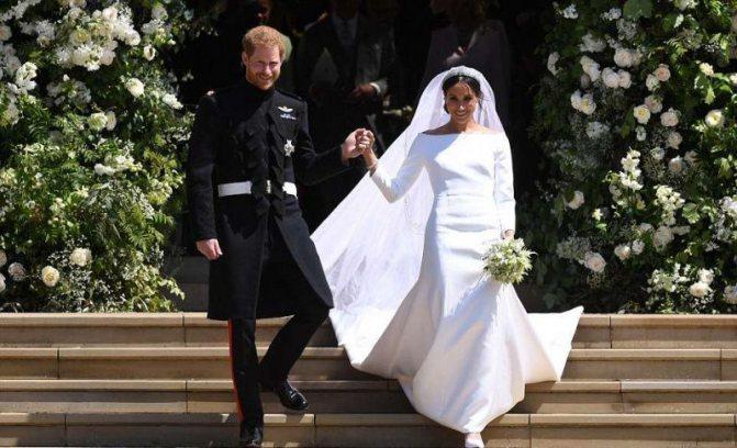 Платье Меган Маркл для свадьбы