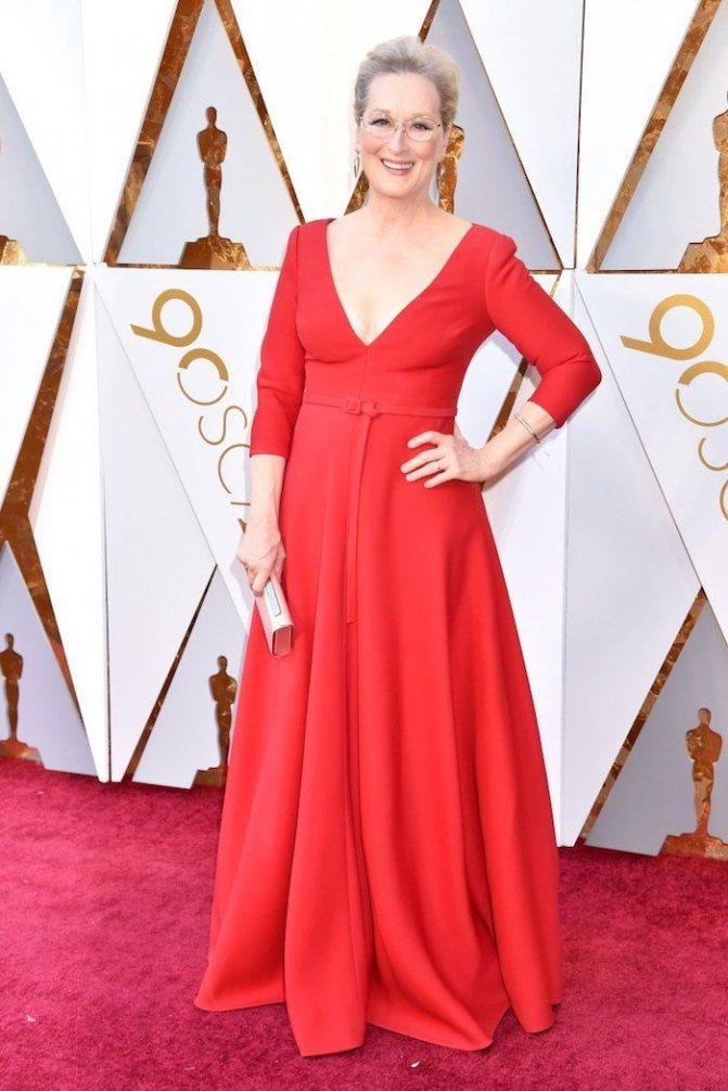 Платье Мерил Стрип на красной дорожке Оскар-2018