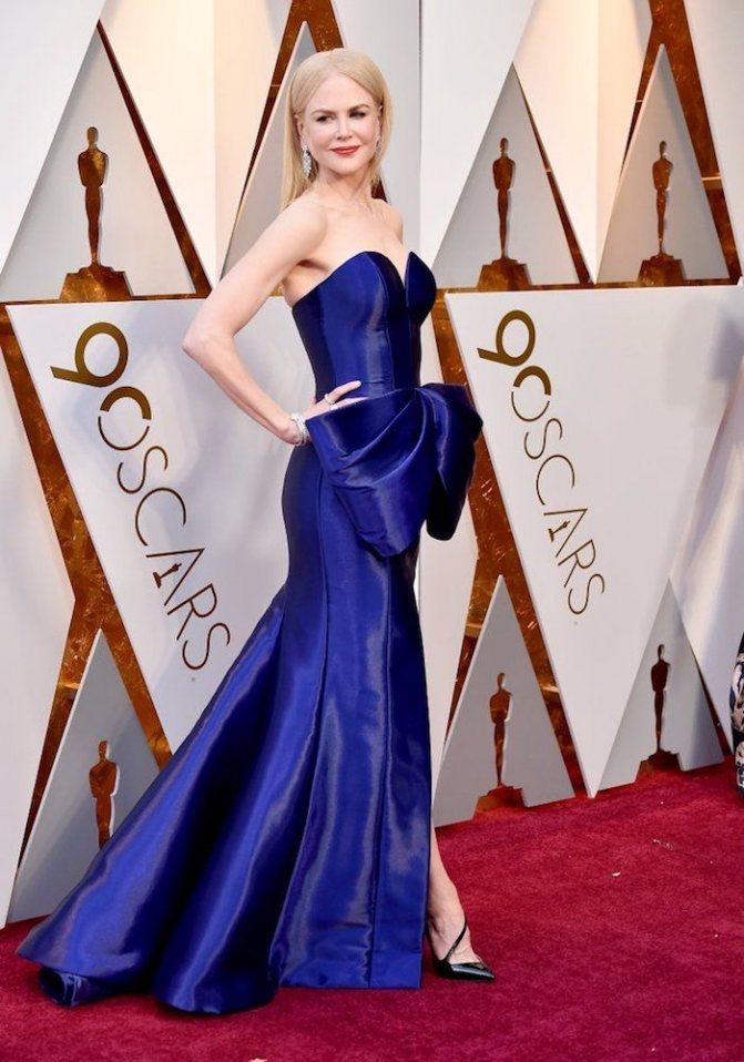 Платье Николь Кидман на красной дорожке Оскар-2018