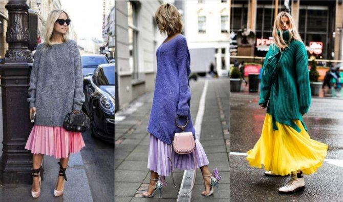 платье свитер 2019