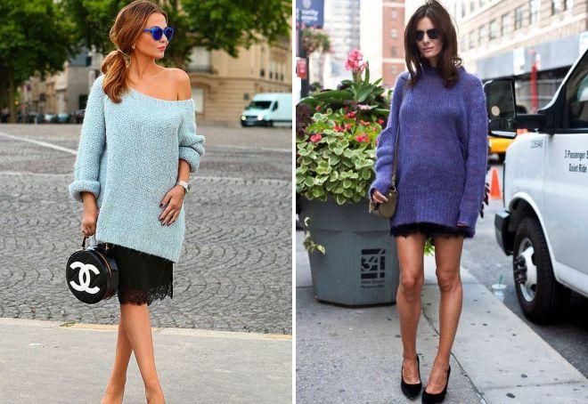 платье свитер свободного кроя