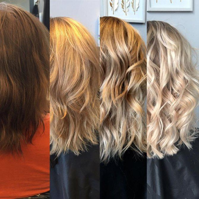 Платиновый блонд на короткие волосы