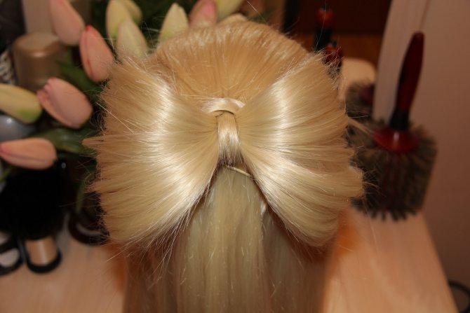 Плетение бантиков из волос