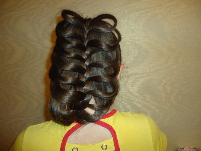 Плетение косы с карандашом