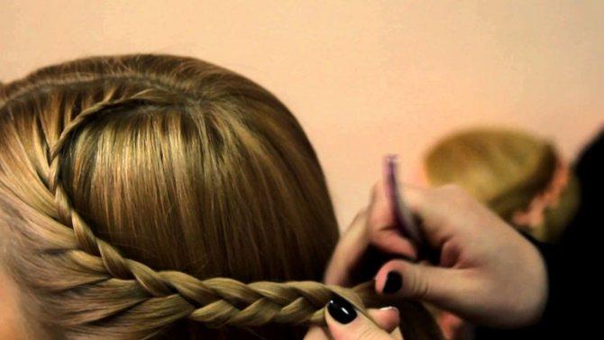 Плетение косы сердечки