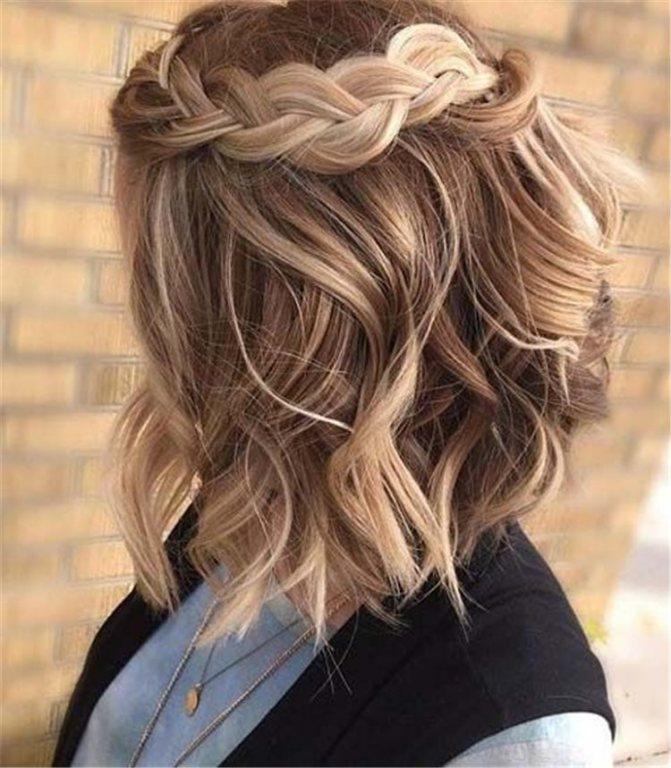 плетеные прически для коротких волос фото 1