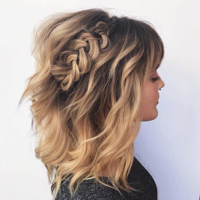 плетеные прически для коротких волос фото 52