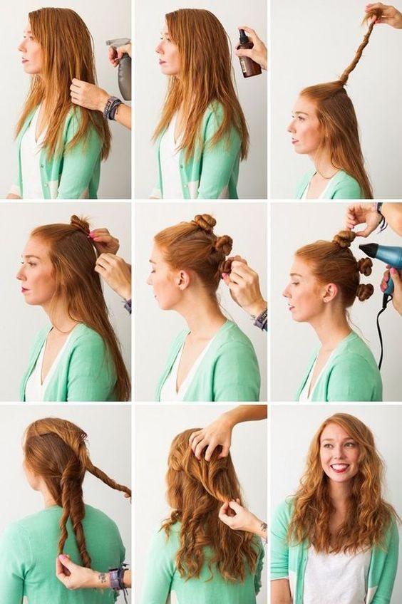 Плойка не нужна: как сделать кудри с помощью косичек, шпилек для волос и носков (ЛАЙФХАКИ ВИДЕО) - фото №2