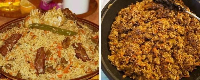 Плов с бурым (коричневым) рисом в мультиварке