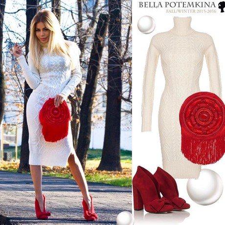 По мнению некоторых подписчиков Виктории Бони, вязаное платье она скопировала из коллекции Беллы Потемкиной