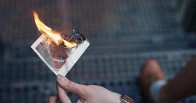 Почему нельзя сжигать фотографии, на которых изображены живые люди