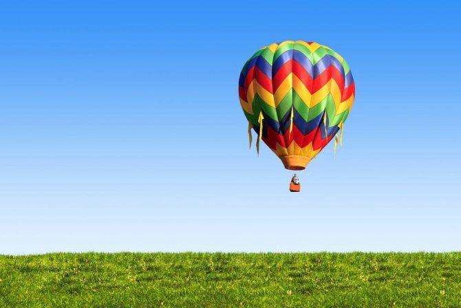 Подарок любовнику на день Святого Валентина - полет на воздушном шаре
